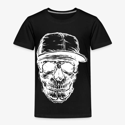 Crâne avec capuchon blanc | Designs Monkey - Mode - T-shirt Premium Enfant