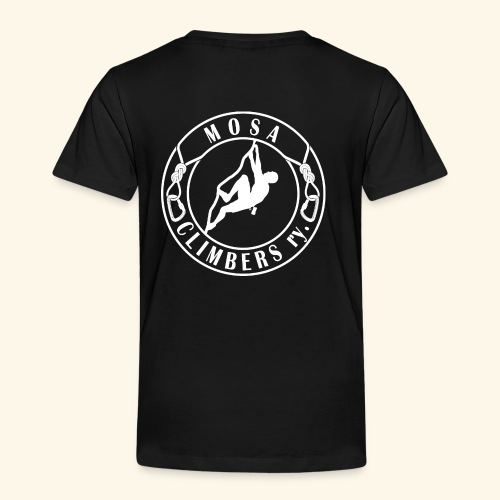 Mosa Climbers white - Lasten premium t-paita