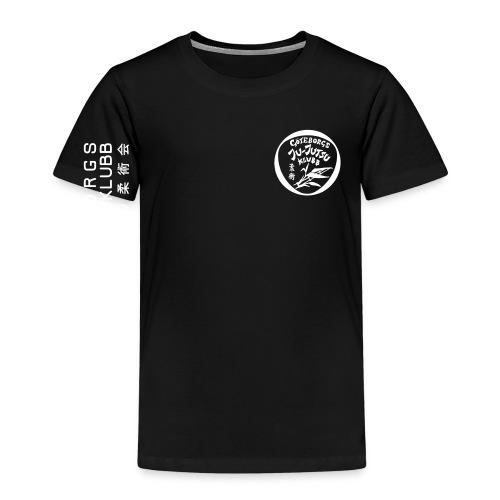 rygg centrerad tshirt hoodjacka troeja - Premium-T-shirt barn