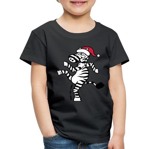 Christmas Zebra - Kids' Premium T-Shirt