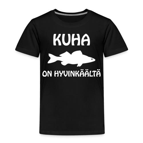 KUHA ON HYVINKÄÄLTÄ - Lasten premium t-paita