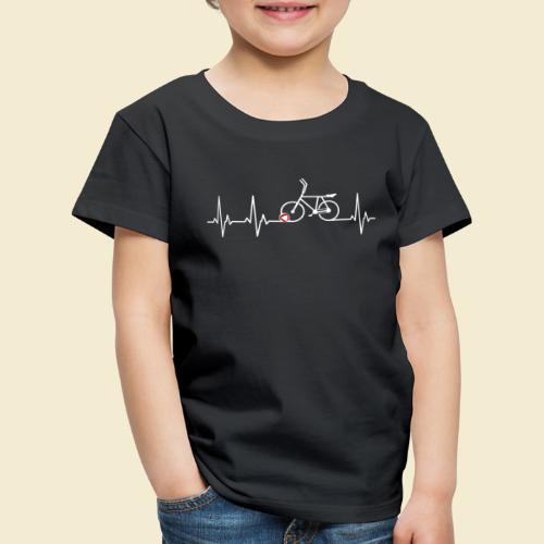 Radball | Heart Monitor White - Kinder Premium T-Shirt