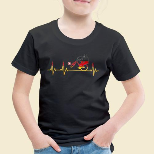 Radball | Cycleball Heart Monitor Germany - Kinder Premium T-Shirt