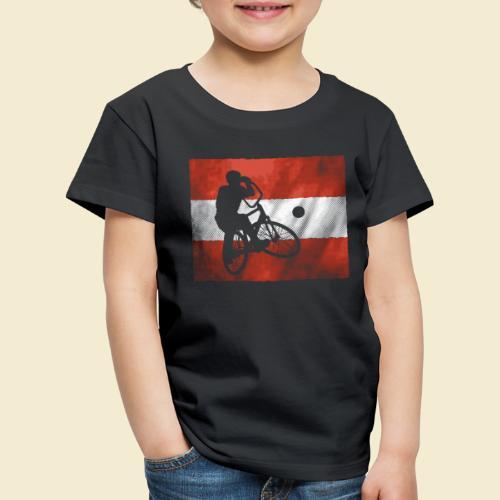 Radball | Flagge Österreich - Kinder Premium T-Shirt