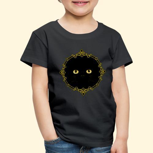Badge Chat Noir - Pixel Art - T-shirt Premium Enfant