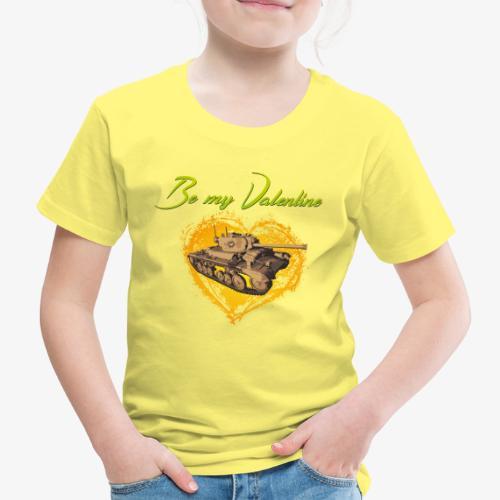 Glowing Valentine Heart - Kinder Premium T-Shirt