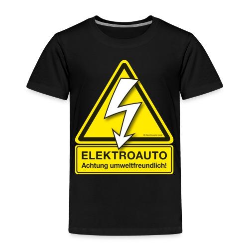 ELEKTROAUTO - Achtung umwelttfreundlich! - Kinder Premium T-Shirt