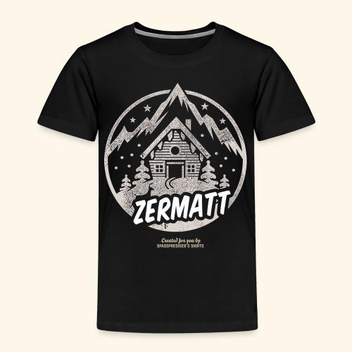 Zermatt Skigebiet Schweiz Design - Kinder Premium T-Shirt