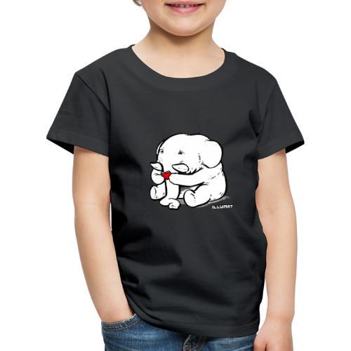 Stef 0002 00 Lesefant - Kinder Premium T-Shirt