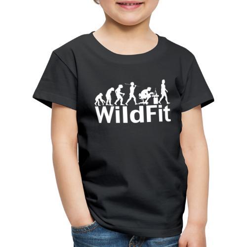 WildFit Logo Evolution Weiß - Kinder Premium T-Shirt