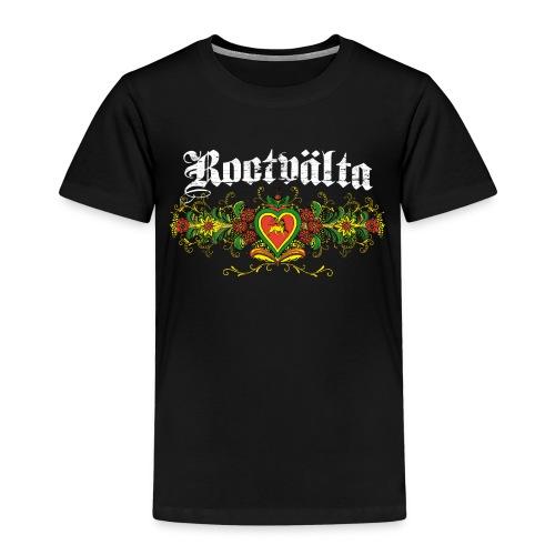 Rootvalta_kurbitslogo_whi - Premium-T-shirt barn