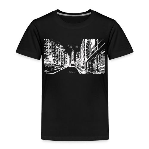 Kallio Helsinki Naisten V-kaula-aukkoinen T-paita - Lasten premium t-paita