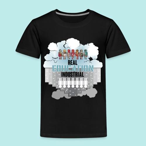 Real Education vs. Industrial Education - Camiseta premium niño