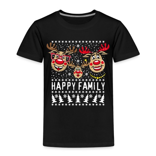 94 Hirsch Rudolph HAPPY FAMILY Papa Mama Kind - Kinder Premium T-Shirt