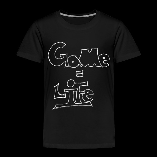 Game = Life White - Kinder Premium T-Shirt