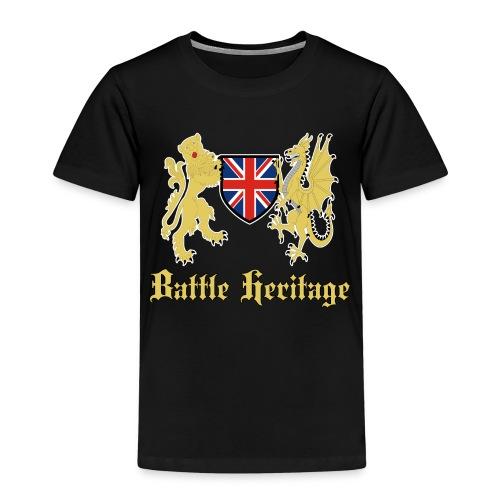 DragonLion_TextGold - Kids' Premium T-Shirt