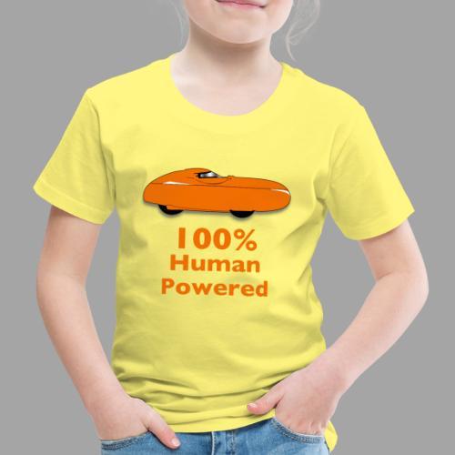100% human powered - Lasten premium t-paita
