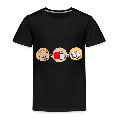Un chat, un plaid, un livre - T-shirt Premium Enfant