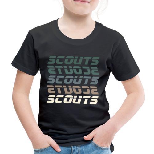 SCOUTS Retro Typo Grün - Kinder Premium T-Shirt