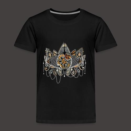Oeil dentelle Orange Version Noir - T-shirt Premium Enfant