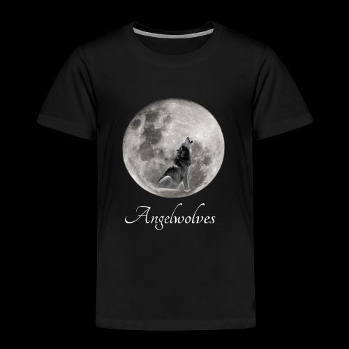 Heulender Wolf vor Mond Angelwolves - Kinder Premium T-Shirt
