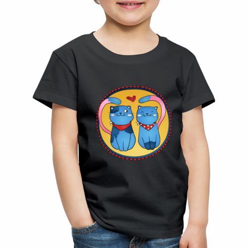 In Love Cat Lovely Katze - Kinder Premium T-Shirt