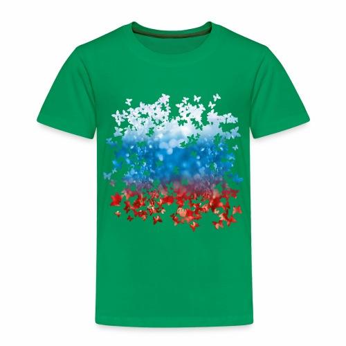 06 Russland Flagge Fahne Russia Schmetterlinge - Kinder Premium T-Shirt