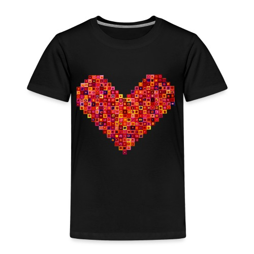 Rotes Herz aus Karos - Kinder Premium T-Shirt