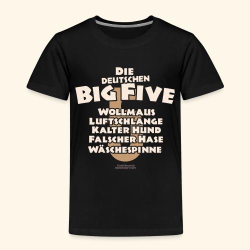 Sprüche T Shirt Die deutschen Big Five für Geeks - Kinder Premium T-Shirt