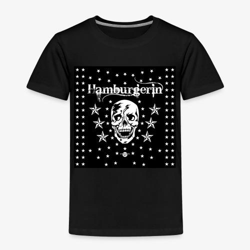 06 Hamburgerin Totenkopf Hamburg Sterne Mundschutz - Kinder Premium T-Shirt