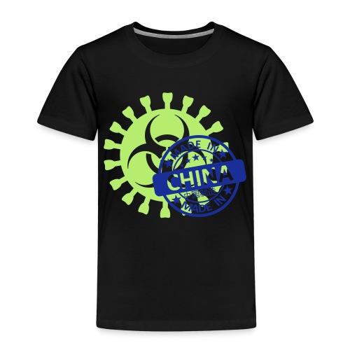 Corona Virus COVID-19 Biohazard Made In China - Kinder Premium T-Shirt