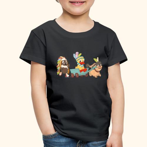 Pittiplatsch Indianerfreunde mit Schnatti & Moppi - Kinder Premium T-Shirt