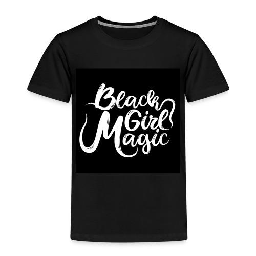 Black Girl Magic 1 White Text - Kids' Premium T-Shirt