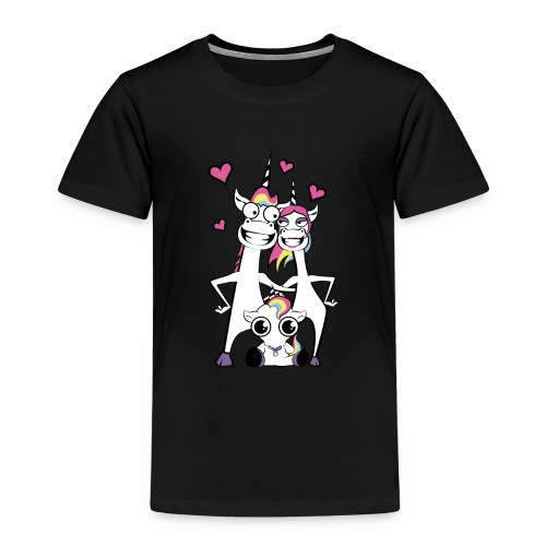 Familie Einhorn - Kinder Premium T-Shirt