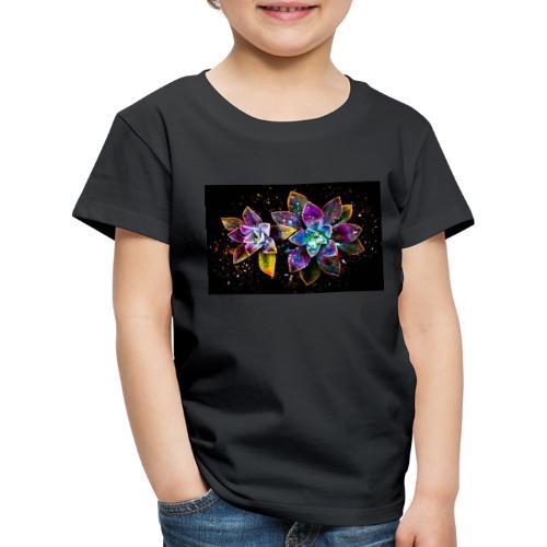 Wunderschöne Kunstblumen - Kinder Premium T-Shirt