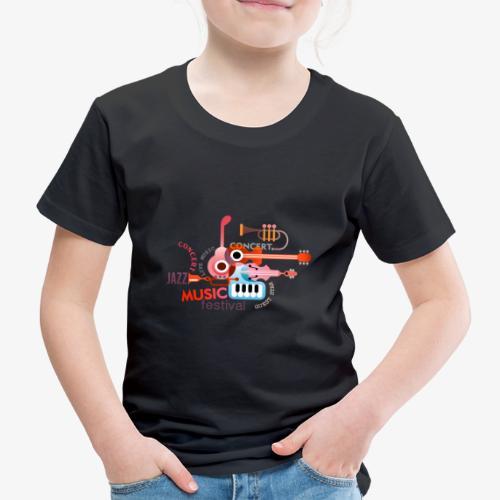 JAZZ Musik Konzerte Festival Orchester Band Sounds - Kinder Premium T-Shirt