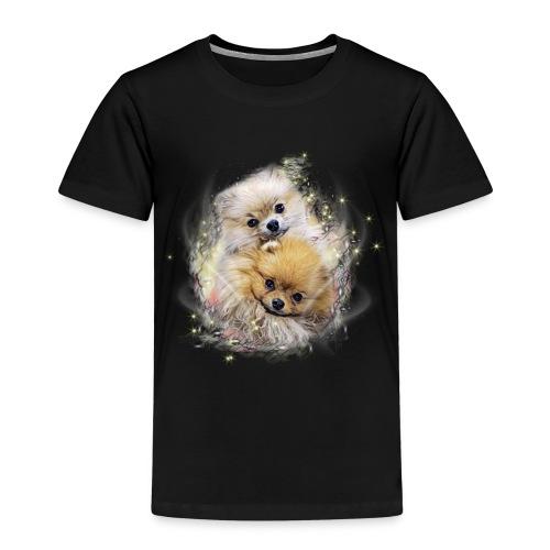 Pomeranian Shirt - Fluffypom Paar - Zwergspitz - Kinder Premium T-Shirt