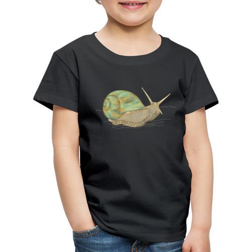 Schnecke, Weinbergschnecke - Kinder Premium T-Shirt