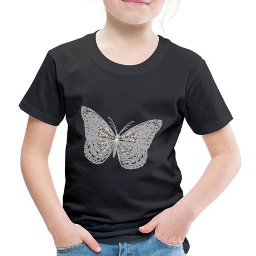 Süßer Schmetterling mit filigranen Totenköpfen - Kinder Premium T-Shirt