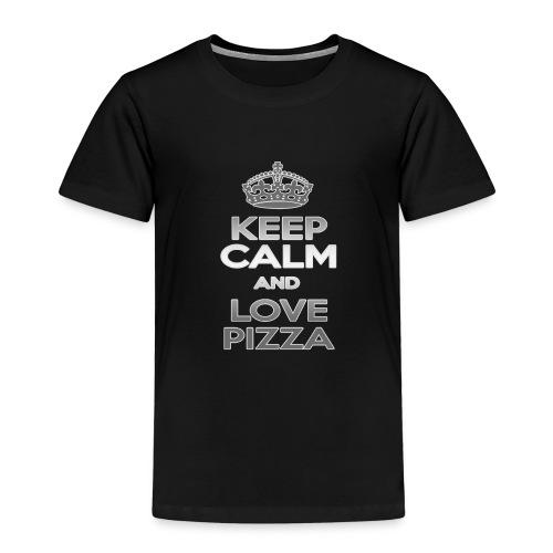 Keep Calm And Love Pizza - Premium-T-shirt barn