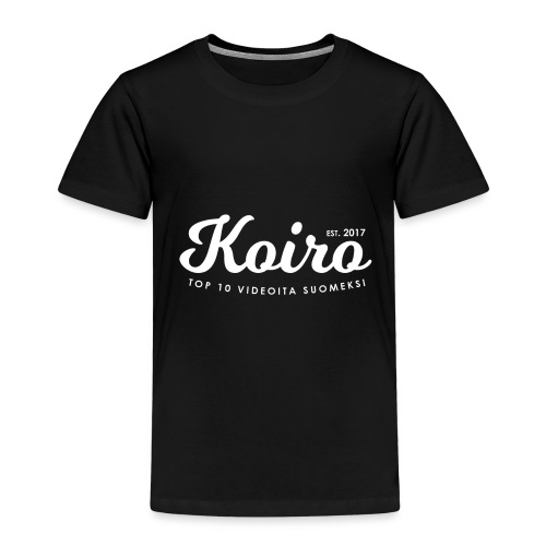 Koiro - Valkoinen Teksti - Lasten premium t-paita