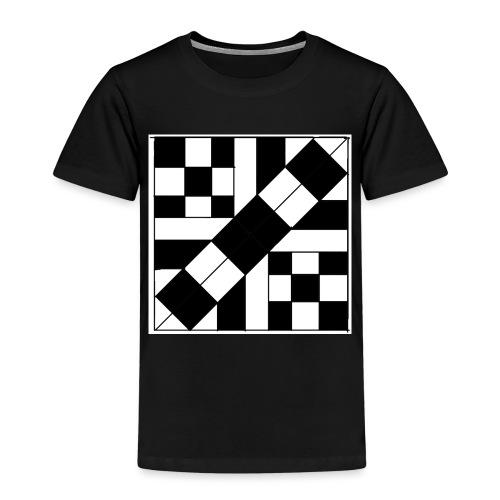 checker patterned art - Kids' Premium T-Shirt