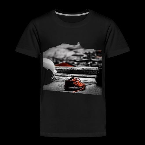 sko - Premium-T-shirt barn