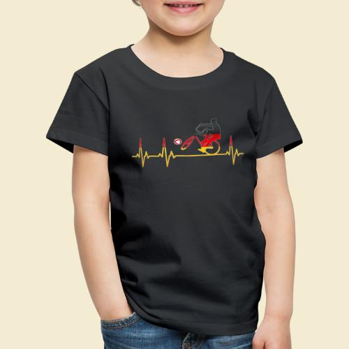 Radball   Cycleball Heart Monitor Germany - Kinder Premium T-Shirt