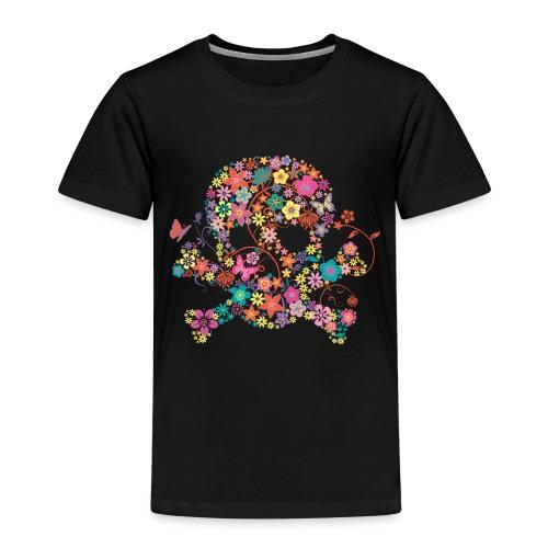 Tête de mort avec des fleurs - flower skull - T-shirt Premium Enfant