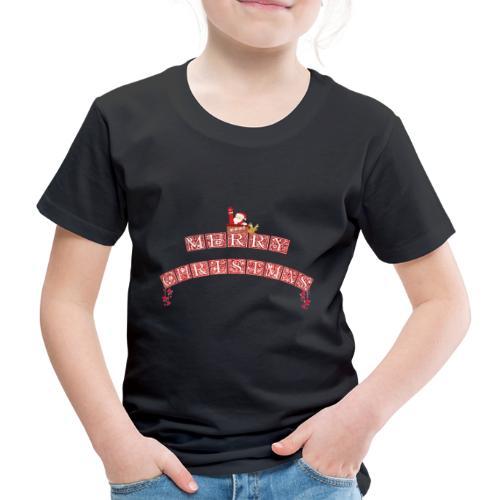 Merry Christmas Santa und Rudolph - Kinder Premium T-Shirt