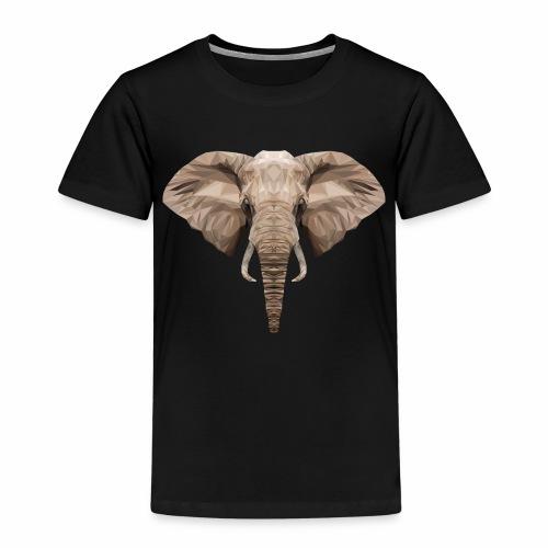 Low Poly Elephant - Maglietta Premium per bambini