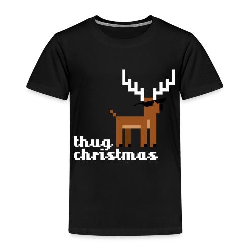 Christmas Xmas Deer Pixel Funny - Kids' Premium T-Shirt