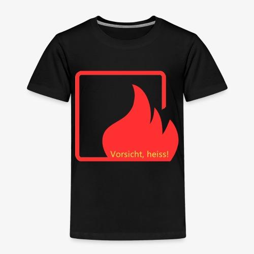 Warnschild «Vorsicht heiss» - Kinder Premium T-Shirt