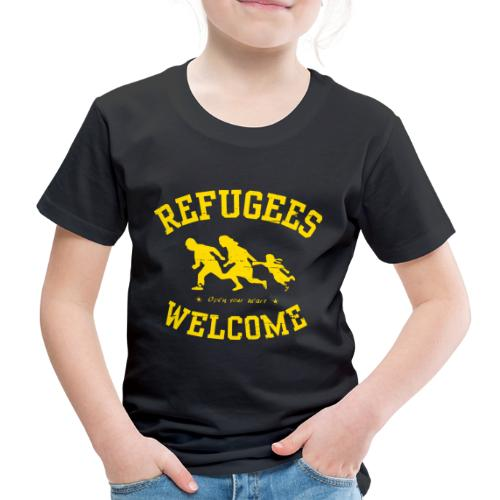 Refugees Welcome - Open your heart - Kinder Premium T-Shirt